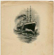 Image of Menu, dinner: S.S. America, United States Lines, August 31, 1923. - Menu