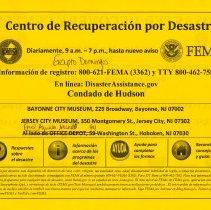 Image of Spanish language side, copy 1: corrected address