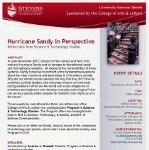Image of File with documents collected from Hurricane Sandy in Perspective, Seminar at Stevens Institute of Technology, Hoboken, Nov. 28, 2012. - File, Document