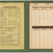 Image of inside: booklet left; replaceable score pad right