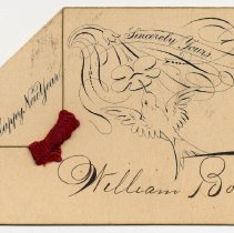 Image of card 2: printed Happy New Year, Sincerely Yours; signed William Borries