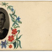 Image of card 3: handpainted decoration; inserted tintype - William E. Borries?