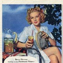 Image of 2: Lipton Tea ad; Betty Hutton, 1944