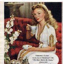 Image of 3: Lipton Tea ad: Veronica Lake, 1944