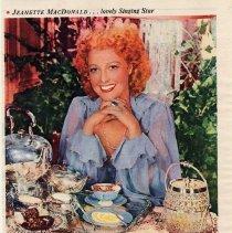 Image of 4: Lipton Tea ad: Jeanette MacDonald, 1945