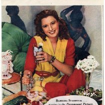 Image of Ad, Lipton Tea, 6: celebrity endorsement ads for Lipton Tea; clipped various magazines, 1944 + 1945.  - Ad, Magazine