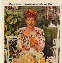 Image of 6: Lipton Tea ad; Gracie Allen, 1945