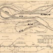 Image of Union Connecting Railroad model train layout plan, 1949