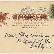 Image of back - address