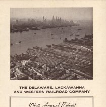 Image of front cover; aerial photo of Lackawanna Terminal, Hoboken