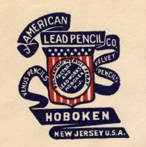 Image of detail front, American Lead Pencil Co. logo