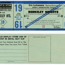 Image of front and back of a typical weekly ticket