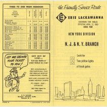 Image of Timetable: Erie Lackawanna Railway, Suburban Time Tables, N.Y.Division, N.J. & N.Y. Branch, eff. Apr. 27, 1969. - Timetable