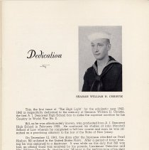 Image of pg 3 Dedication, Seaman William H. Christie