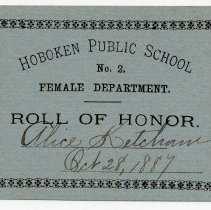 Image of Reward of Merit 11: Alice Ketcham, Oct. 28, 1887