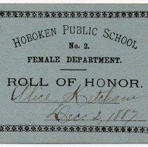 Image of Reward of Merit 12: Alice Ketcham, Dec. 2, 1887