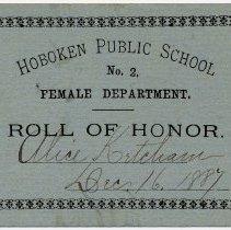Image of Reward of Merit 14: Alice Ketcham, Dec. 16, 1887