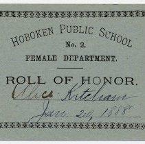 Image of Reward of Merit 15: Alice Ketcham, Jan. 20, 1888