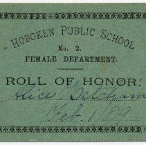 Image of Reward of Merit 16: Alice Ketcham, Feb. 1, 1889