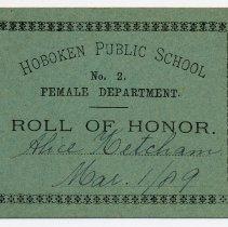 Image of Reward of Merit 18: Alice Ketcham, March 1, 1889