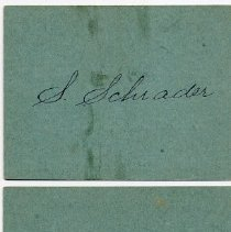 Image of reverse of numbers 16-20, 1889, with signature: S. Schrader