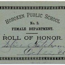 Image of Reward of Merit 3: Alice Ketcham, Oct. 22, 1886