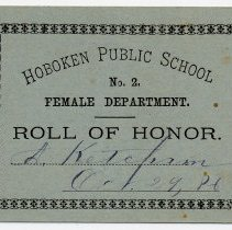 Image of Reward of Merit 4: Alice Ketcham, Oct. 29, 1886