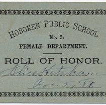Image of Reward of Merit 5: Alice Ketcham, Nov. 5, 1886