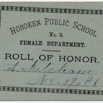 Image of Reward of Merit 7: Alice Ketcham, Nov. 19, 1886