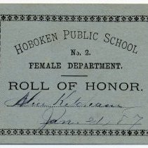 Image of Reward of Merit 8: Alice Ketcham, Jan. 21, 1887