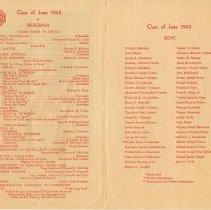 Image of pp [2-3] Program;  Class of June 1945 Boys