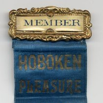 Image of Ribbon badge: Member, Hoboken Pleasure Club of Hoboken, N.J. - Badge, Membership