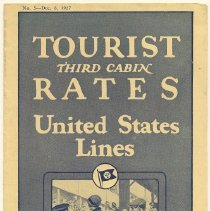 Image of Brochure: United States Lines. Tourist Third Cabin Rates. (Fare schedule) No. 5, Dec. 6, 1927.  - Brochure