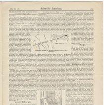 Image of Proposed North River Bridge: Scientific American, May 23, 1891, pg 323