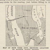 Image of detail illus. pg 323: Map ... Showing Location of Hudson River Bridge