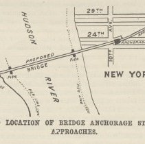 Image of detail illust. pg 323: Suggested Location of Bridge Anchorage Station...