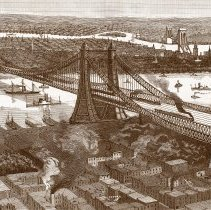 Image of detail illus. front page: THE PROPOSED HUDSON RIVER - enhanced, recolored