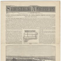 Image of Proposed North River Bridge: Scientific American, May 23, 1891, front page