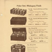 Image of pg 27 Poker Sets - Mahogany Finish