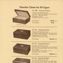 Image of pg 3 Humidor Chests for 50 Cigars