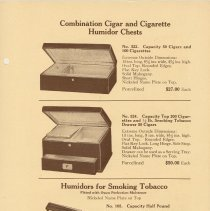 Image of pg 5 Combination Cigar and Cigarette Humidor Chests