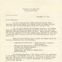 Image of transmittal letter: President W. Gardner Barker, Hoboken, Sept. 12, 1962