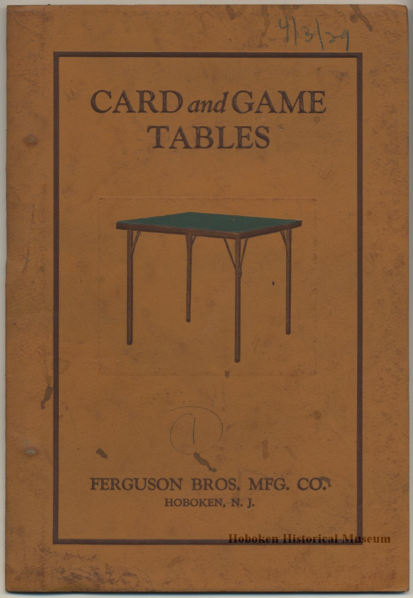 Catalog, furniture: Card and Game Tables. 1929. Catalogue No. 18 ...