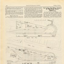 Image of Article: The Two-Story Street Railway Terminal of the Public Service Railway, Hoboken, N.J. Engineering News, Vol. 63. No. 16, April 21, 1910. - Article