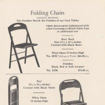 Image of pg 22 Folding Chairs