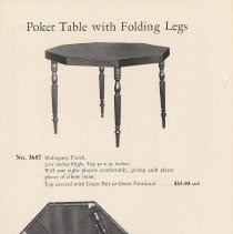 Image of pg 40 Poker Table with Folding Legs