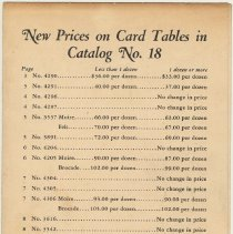 Image of price list, pg [1] of 4