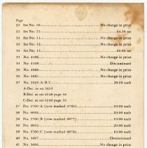 Image of price list, pg [4] of 4