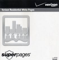 Image of Telephone directory: Verizon Residential White Pages, March 2011-2012. Residental white pages.