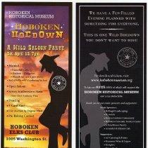 Image of postcard, Hoboken Hoedown (2013), front and back